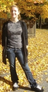 Me standing under a pretty fall tree